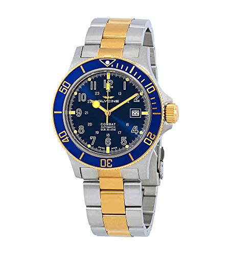 Glycine Combat Sub Blue Dial Two-Tone Men's Watch GL0081