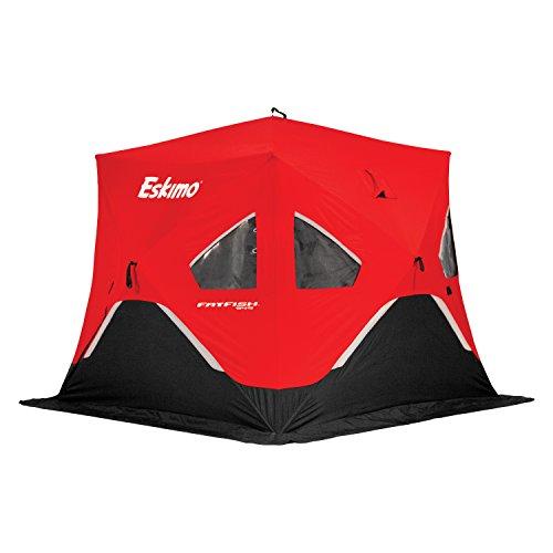 Eskimo FF949 FatFish Pop-up Portable Hub-Style Ice Shelter, Wide Bottom Design 61 sq ft. Fishable...