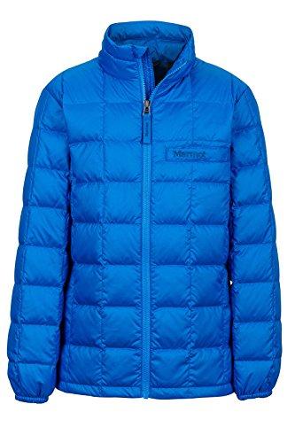 Marmot Ajax Boys' Down Puffer Jacket, Fill Power 600, Cobalt Blue, Medium