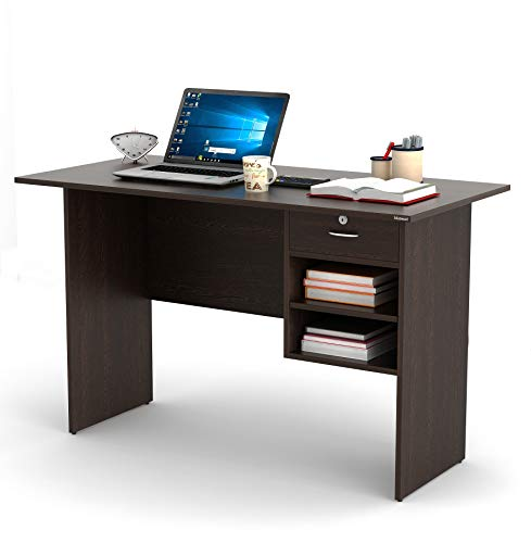 BLUEWUD Amalet Engineered Wood Study Table, Laptop, Computer Table Desk for Home & Office (Wenge)