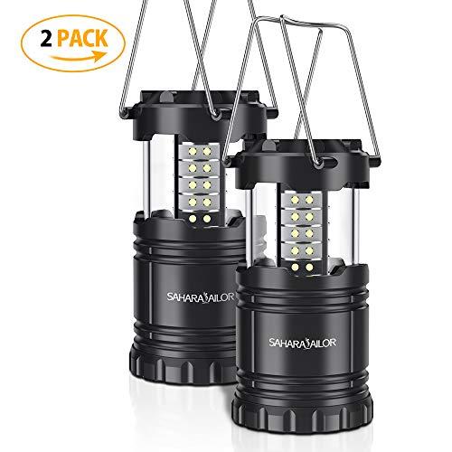LED Camping Lampe ,Sahara Sailor LED Camping Laterne Tragbar,Faltbare Notfallleuchte für Angeln,Wasserdicht und winddicht,für Wandern, Camping, Notfall, Hurrikan, Stromausfall (2er Pack)