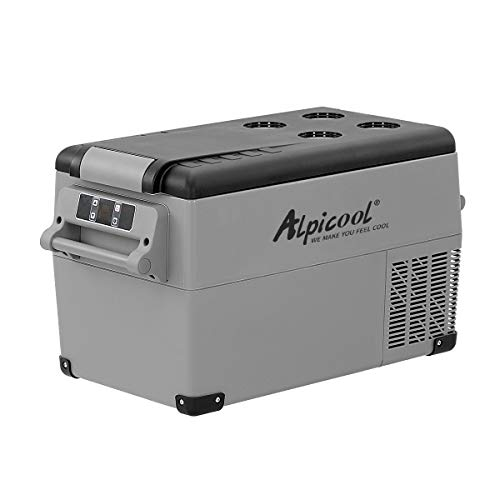 Alpicool CF35 35 Litri Frigoriferi Portatile Elettrico Frigorifero per Auto Congelatore 12V 24V DC/AC Mini Frigo per Viaggio, Picnic, Campeggio Uso Esterno, da -20 a 20