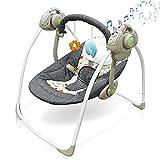 Balançoire pour bébé avec jouets, moustiquaire, prise en charge de la lecture...