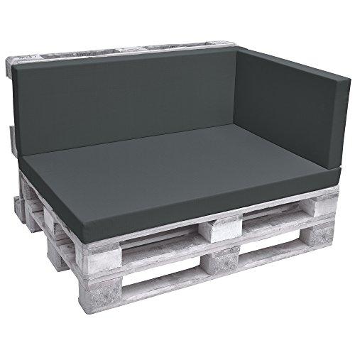 Beautissu Cuscino Laterale per divanetti con bancali - Eco Pure - 70x40x8cm - per divani e panche da...