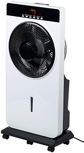 Sichler Haushaltsgeräte Kühlgeräte: Sprühnebel-Standventilator, Anti-Insekten, MP3-Player, 90 W, Ø 30 cm (Wasserventilator)