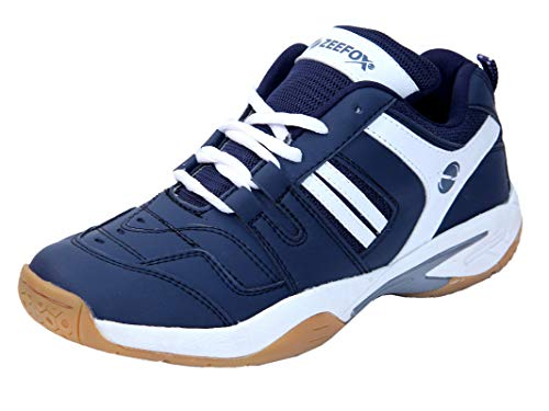 ZEEFOX Ryder Men's (Non-Marking) PU Badminton Shoes Navy Blue