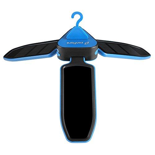 Zanflare LEDランタン ソーラーライト ポータブル 吊下げフック付き 折りたたみ式 USB充電 SOSライト 登山 釣り キャンピング アウトドア