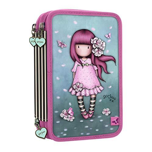 Gorjuss Sparkle & Bloom 607GJ13 Astuccio Riempito Con Zip Tripla - Cherry Blossom