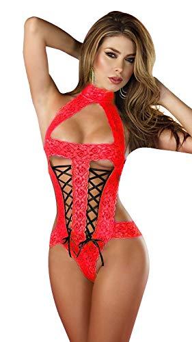 Shangrui Femminile Lace Fluoroscopia Intima Bikini Siamese Pajamas YF156