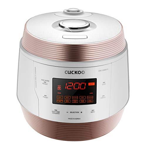 CUCKOO CMC-QSB501S ICOOK Q5 8 in 1 Premium Dampfdruck Multikocher aus Edelstahl