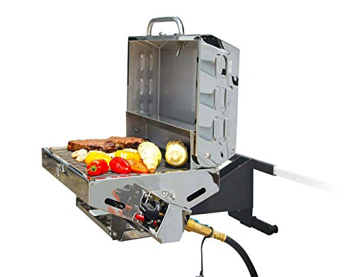 Camco Olympian 5500 Stainless-Steel Portable Gas Grill - Connects...