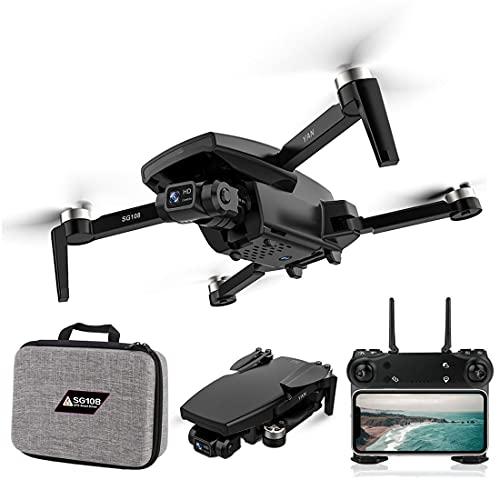 SG108 PRO RC Drone 4K fotocamera con tasca portatile e Akuus, 5G WiFi GPS FPV senza spazzole Quadcopter per principianti, 25 minuti di volo