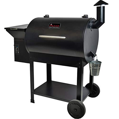 ACTIVA Grill Palletsmoker XXL Grillwagen Smoker BBQ Barbeque inkl. 10 KG Pallets Buche