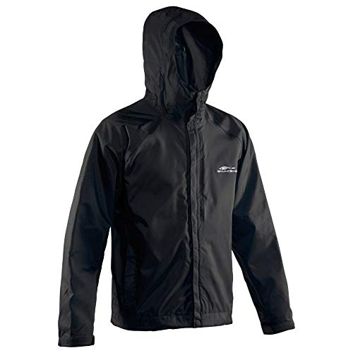 Grundéns Men's Weather Watch Hooded Fishing Jacket, Black, XX-Large