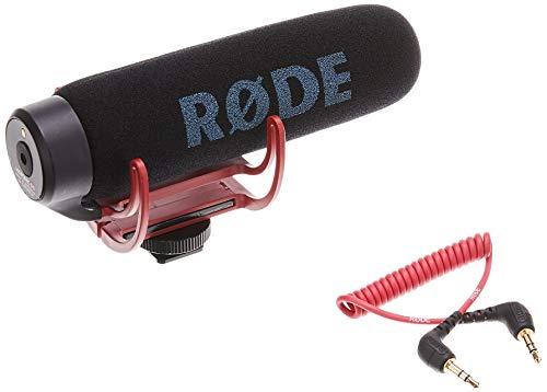 Rode VMGO VideoMic Go Microfono Direzionale per Fotocamere DSLR e Videocamere, 100Hz - 16kHz, Jack 3,5 mm, Nero/Antracite