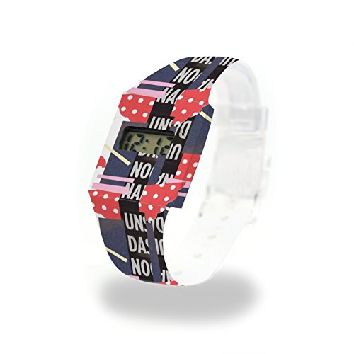 UNDANO - Pappwatch - Paperlike Watch - Digitale Armbanduhr im trendigen Design - aus absolut reissfestem und wasserabweisenden Tyvek® - Made in Germany, absolut reißfest und wasserabweisend