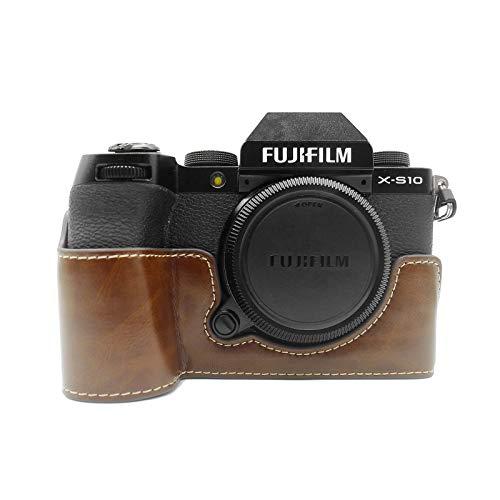 kinokoo FUJIFILM ミラーレスデジタルカメラ X-S10 ボディケース XS10 ケース xs10 カメラケース PUレザー(コーヒー)