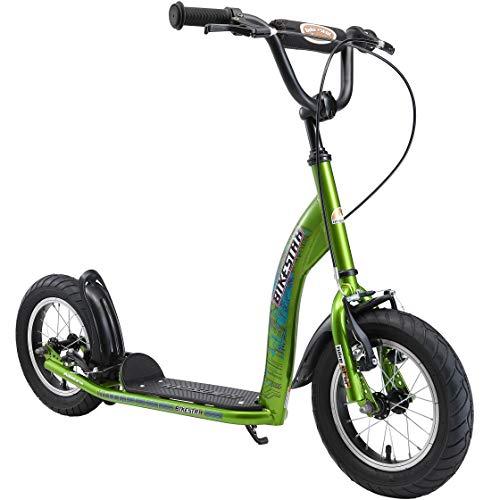 BIKESTAR Monopattino Bambini 2 Ruote da 7 Anni | Scooter Bambini 12 Pollici con Ruote Grandi | Brilliante Verde