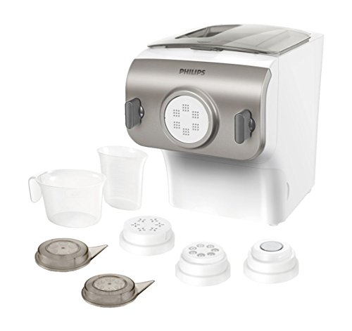Philips Kitchen Appliances Pasta and Noodle Maker HR2357/05 Retail Box Packaging, Silver