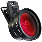 Xenvo Pro - Kit di lenti per iPhone, Samsung, Pixel, Macro e Grandangolare, con luce LED e custodia da viaggio