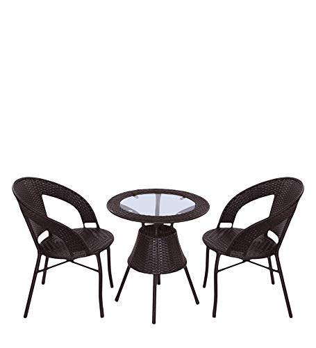 Dreamline Outdoor Garden Patio Seating Set 1+2 2 Chairs and Table Set Balcony Furniture