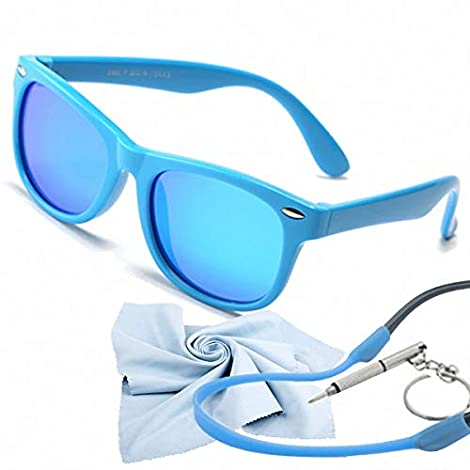 ❤【COMFY AND GREAT QUALITY】 Study shows strong sunlight can cause problems to children's eye, e.g. Damage the corneal epithelium, burns to the macula of the retina, eye cancer, photokeratitis, and pterygium of the eye. Our kids polarized sunglasses ar...