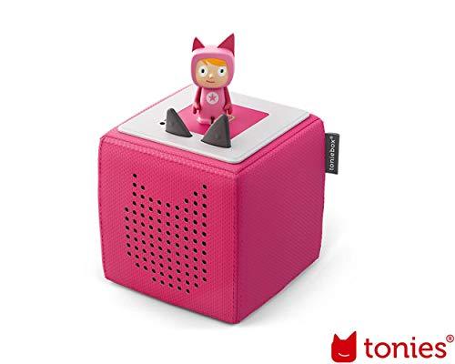 tonies Toniebox Starterset Pink für Kinder inkl. Kreativtonie, Ladestation und Bedienungsanleitung