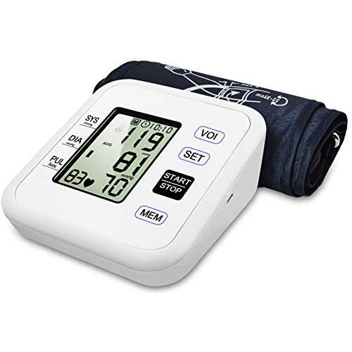 Kimitech Upper Arm Blood Pressure Monitor Digital Smart BP Meter With Large Display cuff 8.7'to16.9' FDA Approved included Storage bag
