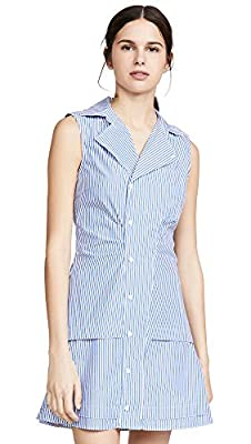 Shell: 100% cotton Fabric: Mid-weight, non-stretch plain weave Dry clean Stripe pattern, Collared neck with notched lapels, Subtle ruching at waist Length: 33.75in / 86cm, from shoulder