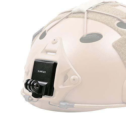 SUREWO - Supporto NVG per casco in alluminio compatibile con GoPro Hero 9/8/7/(2018)/6/5/4 nero, APEMAN, Campark, DJI Osmo Action e la maggior parte delle fotocamere d'azione