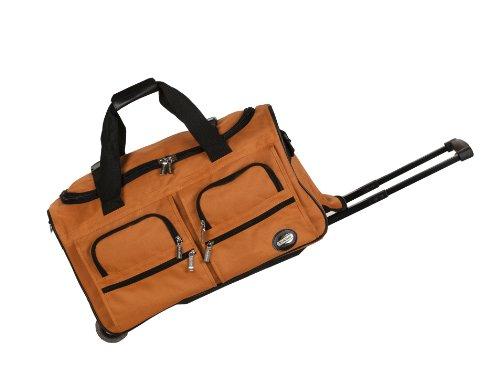 Rockland Rolling Duffel Bag, Orange