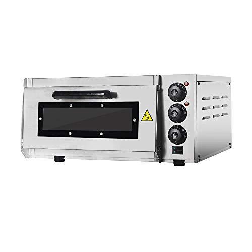 Professional Pizza Oven with 400 X 400 mm alla Pietra refrattaria Back Surface, Gastro pietra forno For Pizza, Bread and Pastry,2000 Watt, la temperatura forno pu essere regolato fino a 350 c