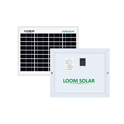 LOOM SOLAR 10 Watt, 12 Volt Solar Panel - Poly Crystalline