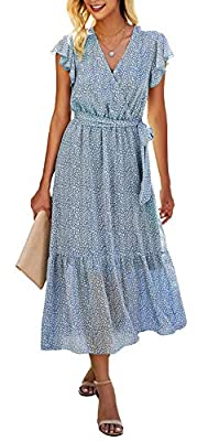 LIGHTWEIGHT & SOFT - In Order To Provide You Fresh Summer Day,This Women's Dress Use The Polyester Material, Provide You Cool & Breathable Wearing Experience, Keep You Away From The Summer Hot Temperature; Although It's Lightweight, You Can Wear The ...