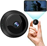Mini Spy Camera 1080P Hidden Camera (Include a 64G SD Card), with Audio and Video Live Feed WiFi Wireless Cameras, 1080P HD Nanny Cam with Night Vision Motion Detection for Home Bathroom Car