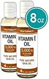 100% Natural Vitamin E Oil 5000 IU | 8 oz (2 x 4oz) | For Skin, Hair & Face | Vegetarian, Non-GMO, Gluten Free | By Horbaach