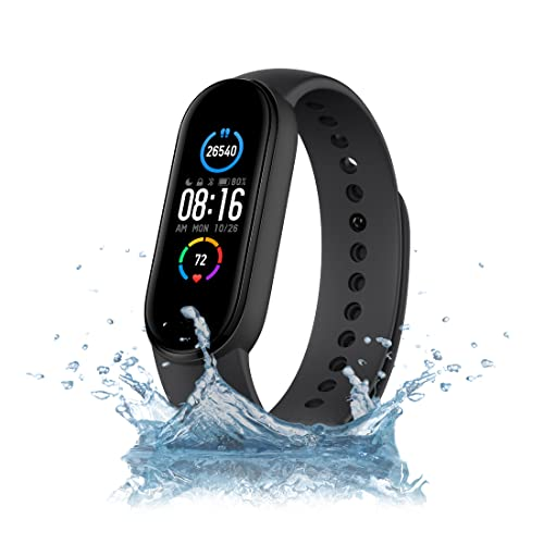 Mi Smart Band 5 – India's No. 1 Fitness Band, 1.1-inch AMOLED Color Display, Magnetic Charging,...