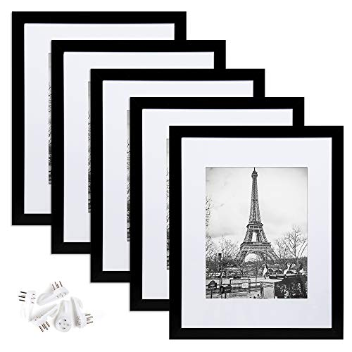 upsimples 11x14 Picture Frame Set of 5,Display Pictures 8x10 with...