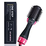 CHARMINER One Step Hair Dryer and Volumizer, Negative Ion Generator Hair Curler Brush for Dry, Straighten and Curling, Hot Air Styling Brush to Smooth Frizz with Negative Ionic Technology for Women