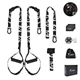 KOBOO Suspension Training Belt, Bodyweight Resistance Straps Training with Fixed Anchor, Suspension Fitness Trainer Kit with Door Buckle for Full Body Workouts at Home Gym and Outdoor