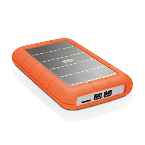 LaCie STEU1000400 Rugged Mini Hard disk Esterno, 1 TB, FireWire800, USB 3.0, Arancione/Grigio