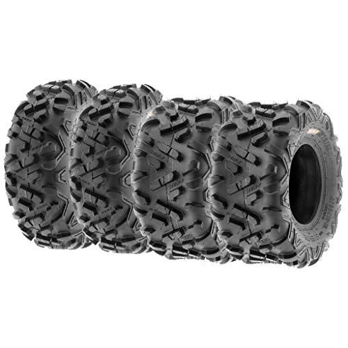 Set of 4 SunF Power.II ATV UTV Tires 19x7-8 Front & 18x9.5-8 Rear, All-Terrain Off Road, 6 PR, A051