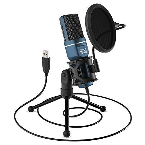 TONOR PC Microfono USB Condensatore per Computer Gioco Mic Plug & Play con Treppiede e Filtro Pop...