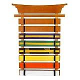 KidKraft Martial Arts Wooden Belt Holder Hanging Display for 8 Belts (Unpersonalized),Honey,18.5 x...