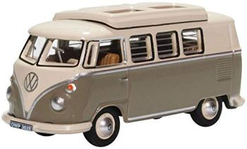 Oxford Diecast 76VWS006 VW T1 Camper Mouse Grey/ Pearl White 1:76 Scale Model