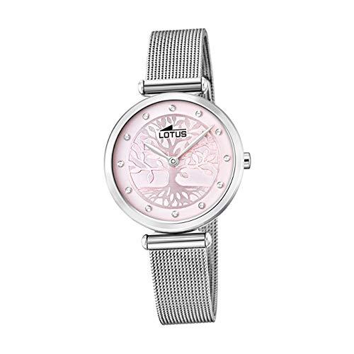 Lotus Damen Analog Quarz Uhr mit Edelstahl Armband 18708/2