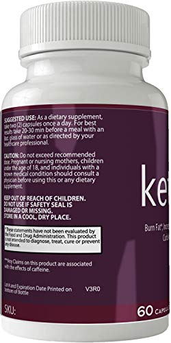 Ketoxol Natural Ketogenic Weight Loss Pills, BHB Burn Fat Supplement, 800 mg Formula with New True Slim GO BHB Salts Formula, Advanced Appetite Suppressant Capsules … 3