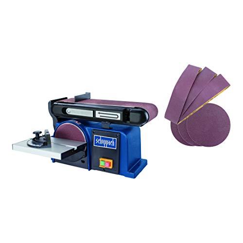 Scheppach Band-Tellerschleifer BTS 900 (Schleifmaschine mit 370W, 230V, 2850 min-1, Schleifteller Ø 150mm, inkl. 3x Schleifpapier und 3x Schleifband) Bandschleifer
