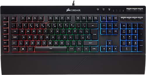 Corsair K55 RGB Tastiera Gaming (Cablato) USB 2.0 Type-A, Retroilluminazione RGB Multicolore, Italiano QWERTY, Nero