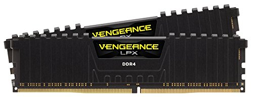 Corsair CMK16GX4M2B3200C16 Vengeance LPX 16 GB (2 x 8 GB) DDR4 3200 MHz C16 XMP 2.0 Módulo de Memoria de Alto Rendimiento, Negro